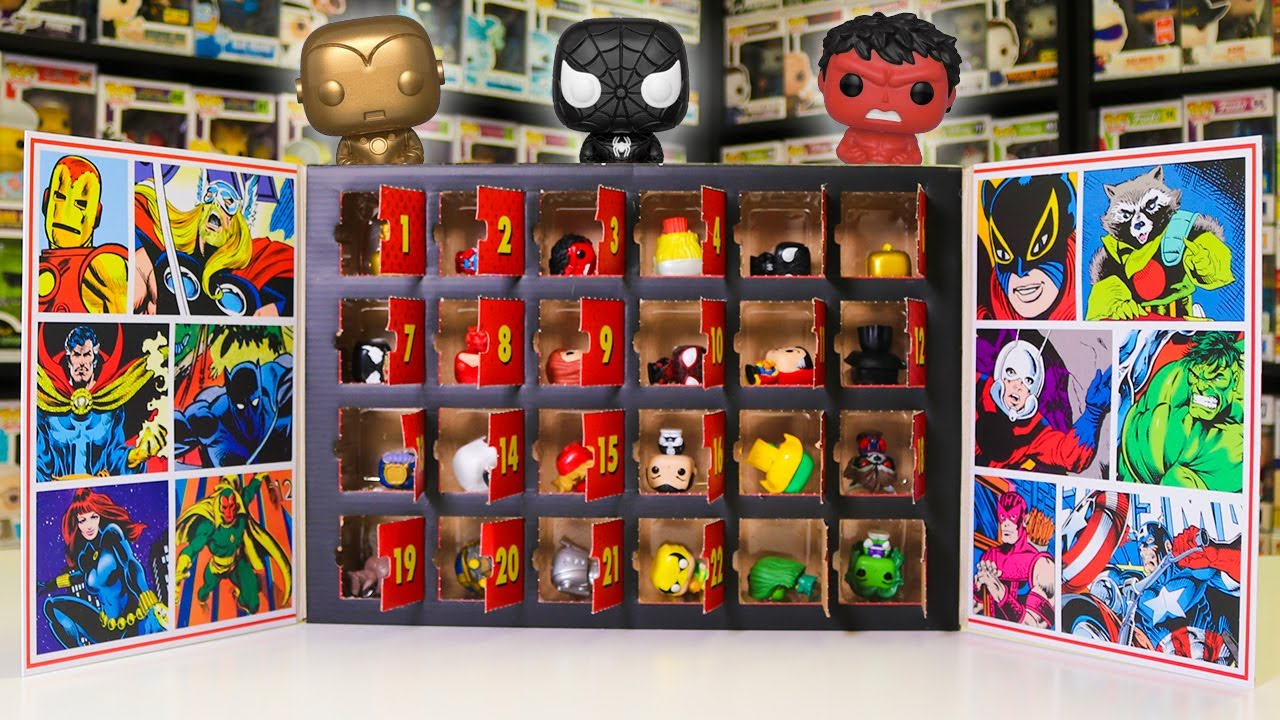 Marvel Christmas Funko Pops 2021 Opening The Entire Marvel Funko Pop Advent Calender Spoilers Youtube