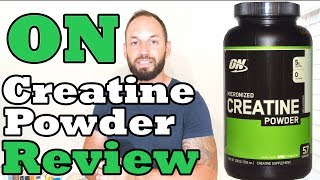 Micronized Pure Creatine Powder Optimum Nutrition Supplement Review