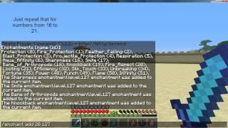 Maximum enchanted diamond sword in Minecraft 1.2.5 (Single player commands tutorial).mp4