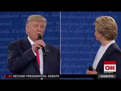 Trump Attacks Hillary over 33,000 Emails at Debate 10/9/16