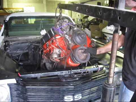removing my chevy 350 motor and tranny from my 72 el camino