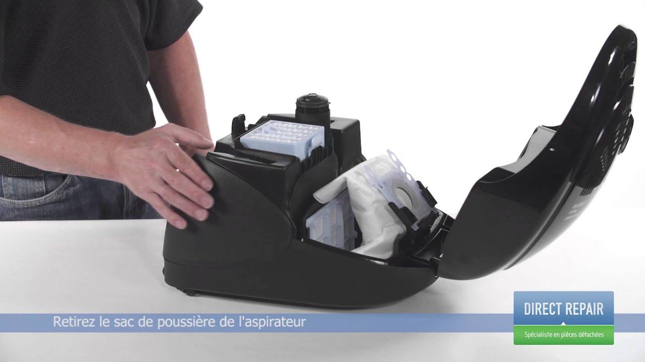 Changer le sac  poussire dans un aspirateur - YouTube