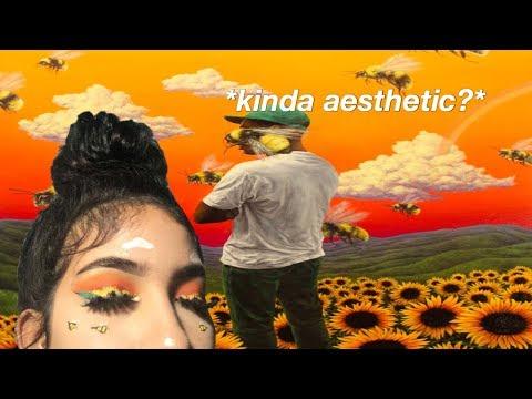 flower boy - tyler the creator album cover inspired look