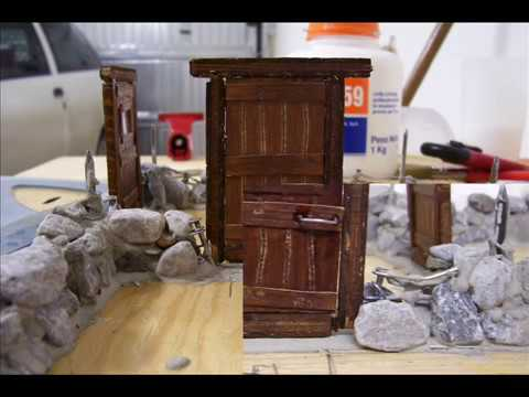 Costruzione di una baita in miniatura parte 1 youtube for Case facili da costruire
