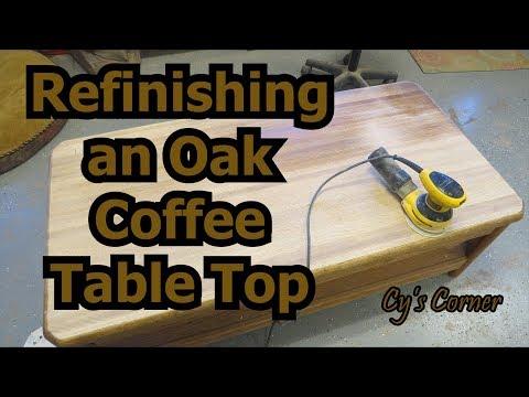 Refinishing An Oak Coffee Table Top