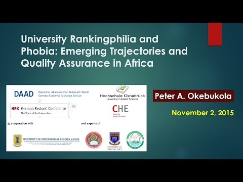 University Rankingphilia and Phobia: Emerging Trajectories in Africa by Peter A. Okebukola