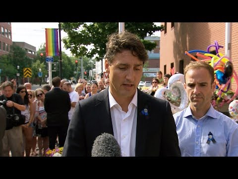 Trudeau offers condolences at Fredericton memorial