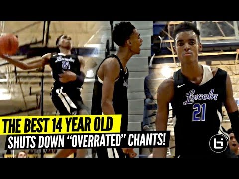 14 Year Old Emoni Bates DOMINATING vs Varsity Basketball | Shuts Down 'OVERRATED' Chants!!