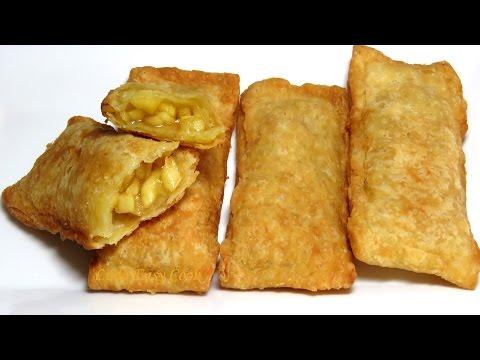 Рецепт Яблочный Пирожок как в Макдональдс   очень просто и вкусно Bánh Táo Mcdonald LudaEasyCook
