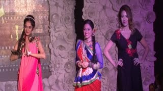 Munmun Dutta, Disha Vakani and Neha Mehta ramp walk at BE WITH BETI Fashion Show 2015.