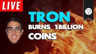 Tron (TRX) Upcoming Coin Burn!