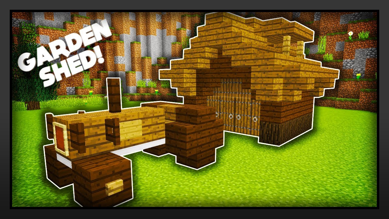 Minecraft - How To Make A Garden Shed - YouTube on Minecraft Backyard Designs id=40166