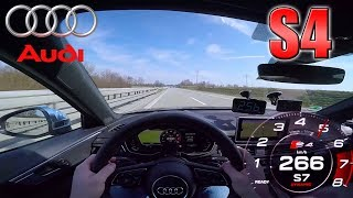 Audi S4 pushing on German Autobahn✔