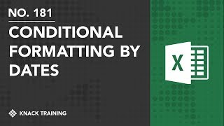 Excel Conditional Formatting for Past Dates | Everyday Office 071