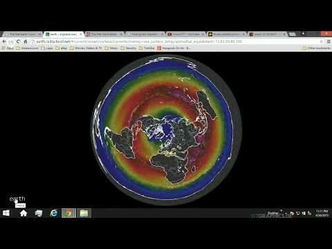Weather map on a Flat Earth, removed from website (mirror Rob Skiba) thumbnail