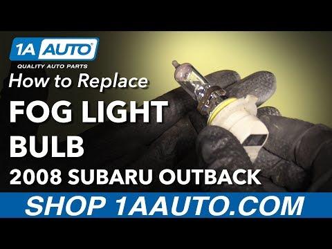 How to Replace Fog Light Bulbs 04-09 Subaru Outback
