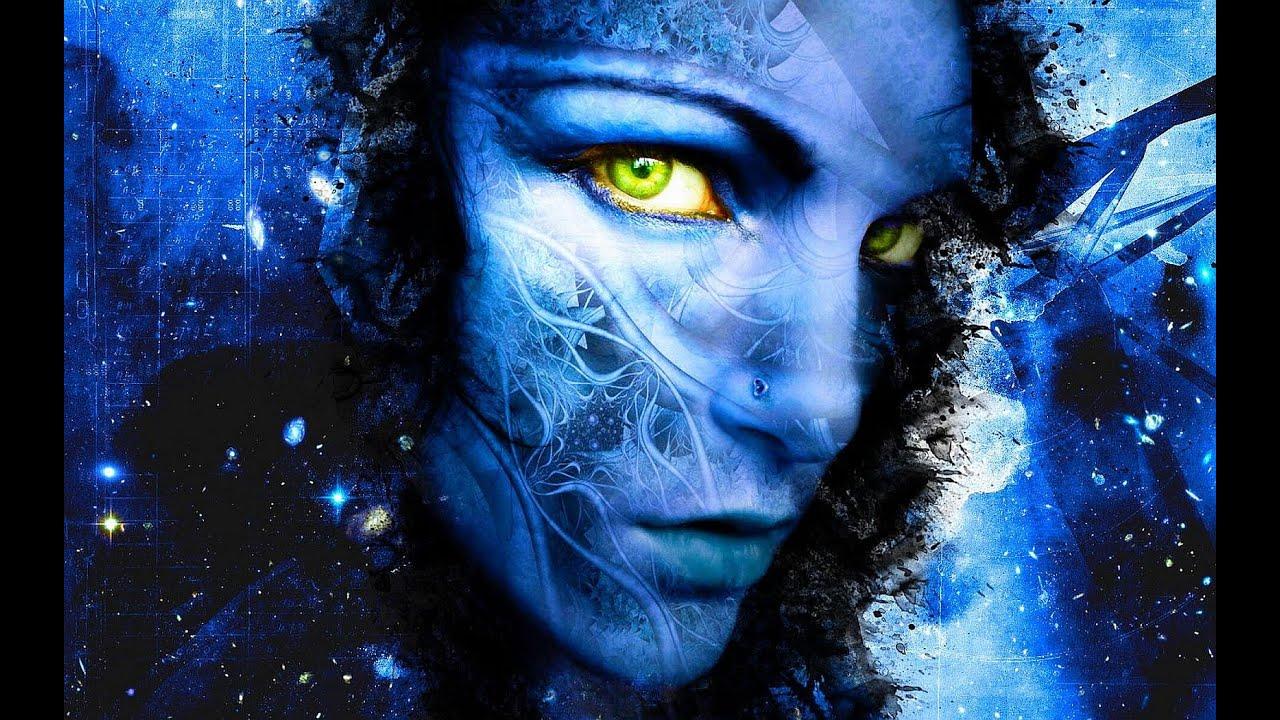 women fantasy eyes blue-#5
