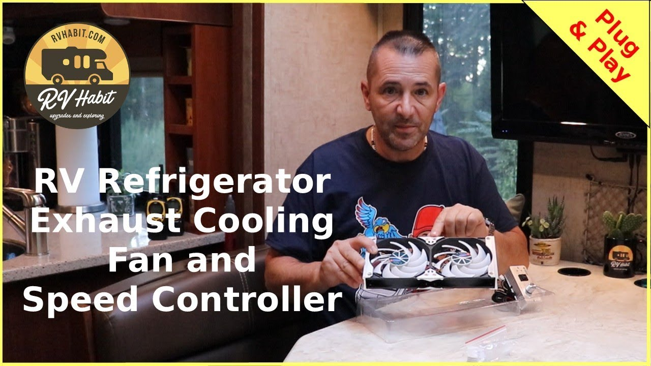 TITAN RV Refrigerator Cooling Exhaust Fan and Speed Controller Install and  Review