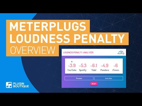 Loudness Penalty By MeterPlugs | Mastering For Streaming Made Easy