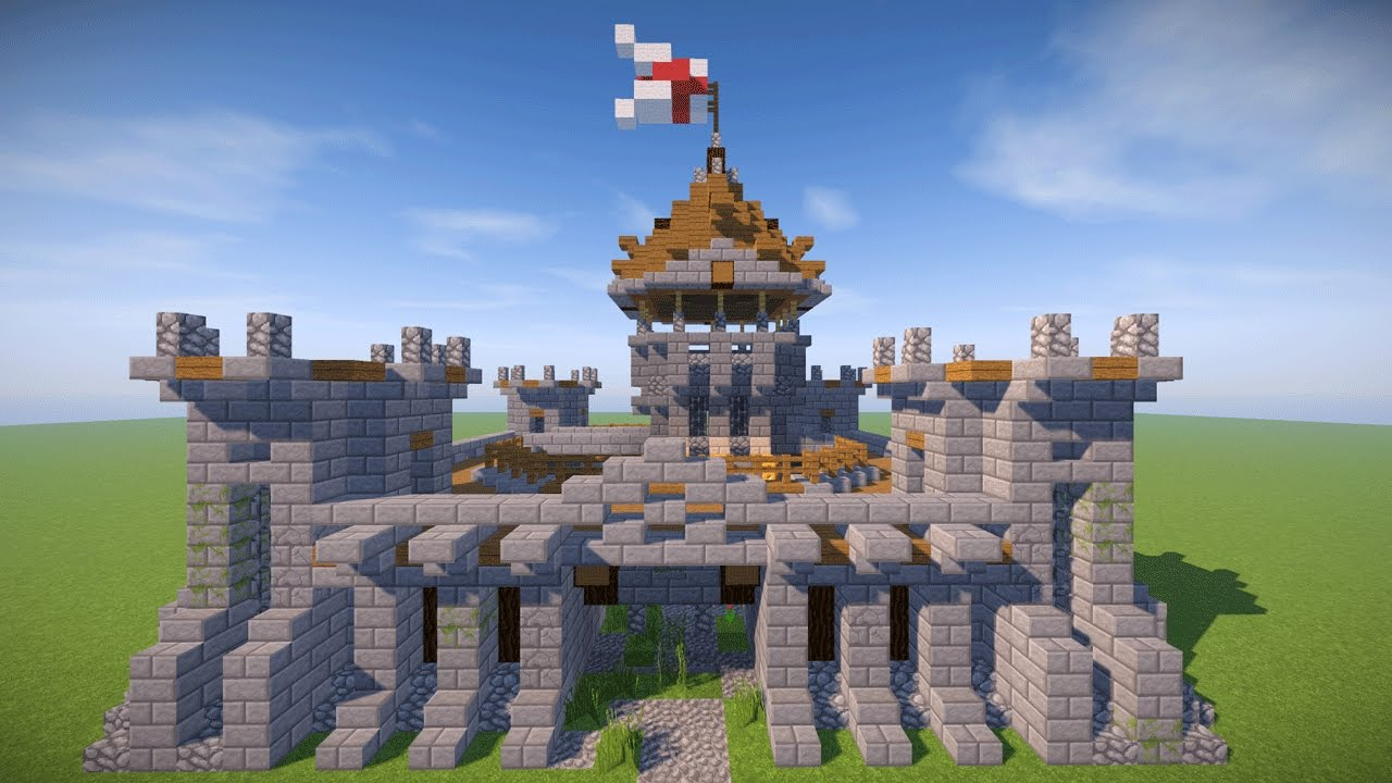 SMALL MINECRAFT CASTLE TUTORIAL ( Survival Castle ) - YouTube