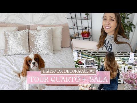 DIÁRIO DA DECORAÇÃO #5 O ÚLTIMO | Compras + Tour QUARTO e SALA
