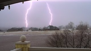 Snow Lightning, Norman, Oklahoma 02-03-14