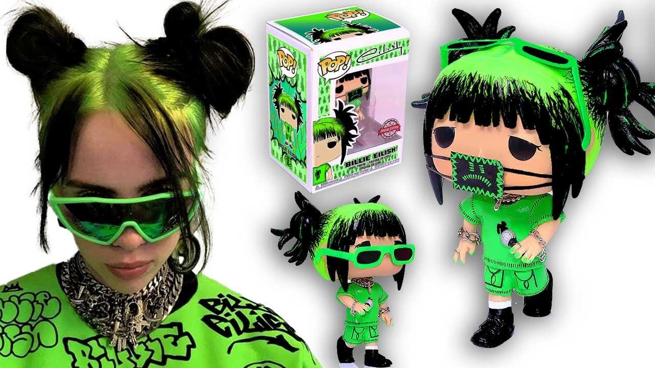 Diy Crea Tu Propia Funko Pop De Billie Eilish Fanart Caja Y Figura Youtube
