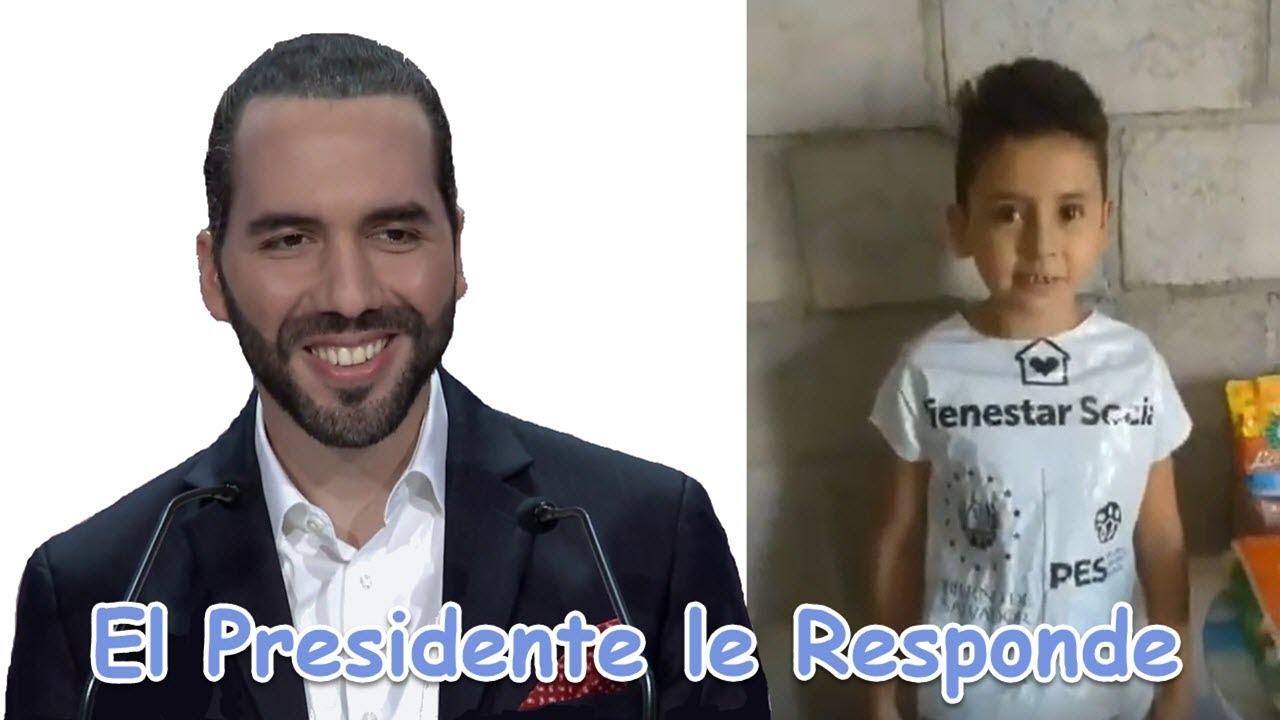 Niño de 8 Años Envía Mensaje al Presidente y Nayib Bukele Responde.