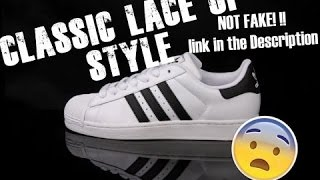 ADIDAS ORIGINALS SUPERSTAR 2 ( NOT FAKE!!!) How To Classic Lace Up Tutorial