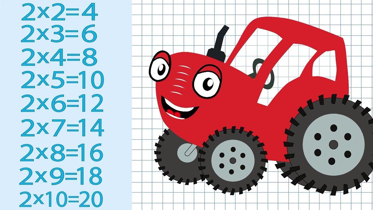 Тыр Тыр Трактор - Учимся умножению - Песенки для детей   Таблица умножения для детей