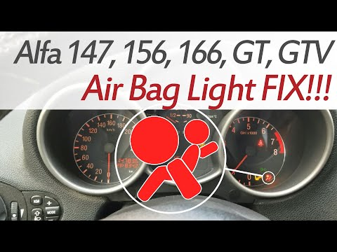 How To FIX Air Bag Light Alfa Romeo 147, 156, 166, GT, GTV  Fixing The Air Bag Light Module Location