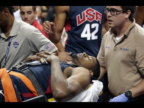 Paul George suffers serious leg Injury while scrimmage - Video