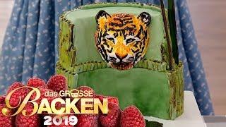 Tierische Motiv-Torte: Kuchen kreativ verzieren | Verkostung | Das große Backen 2019 | SAT.1