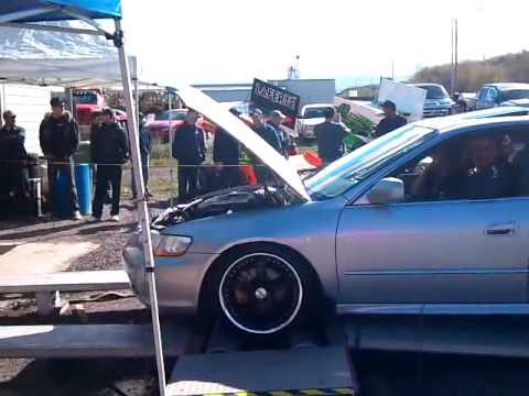 Hawk Brake Pads >> honda accord 2001 V6 on dyno with aem air intake - YouTube