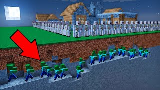 GOLEMS PROTECT THE VILLAGE FROM ZOMBIES in Minecraft Battle