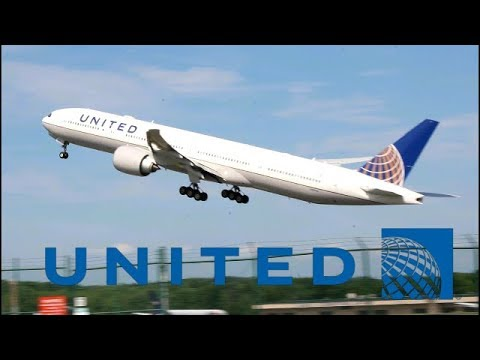 **ULTRA RARE DIVERSION** UNITED 777-300ER DEPARTURE FROM ALBANY