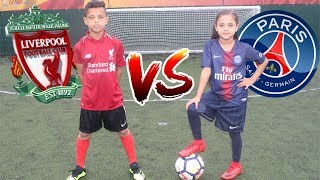NEYMAR JR VS MO SALAH!! PENALTY SHOOTOUT CHALLENGE!! CHAMPIONS LEAGUE