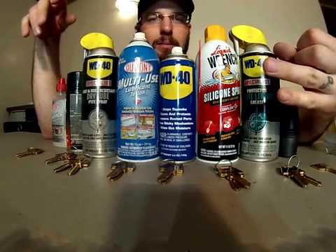 What Is Best Lubricant For Locks WD-40 Graphite Teflon Silicone PTFE Spray Tri-FLow