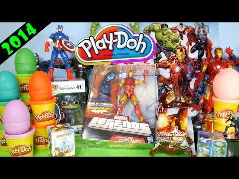 Play Doh Marvel Avengers Surprise Eggs Captain America Iron Man Toys Playdough Disney Cars Toy Club