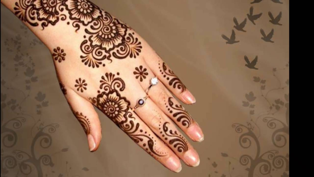Latest Simple Mehndi Designs For Hands 2017: simple ,Design