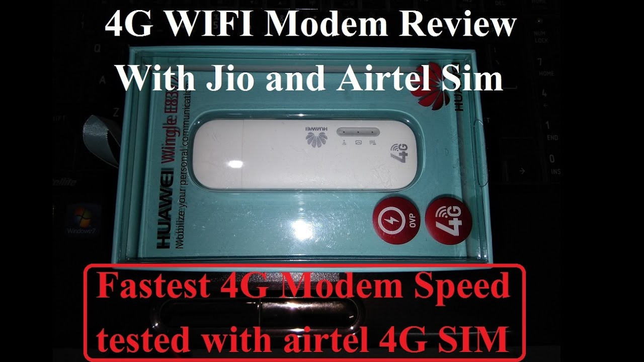 4G WIFI modem huawei wingle E8372 review with jio and airtel 4g speed