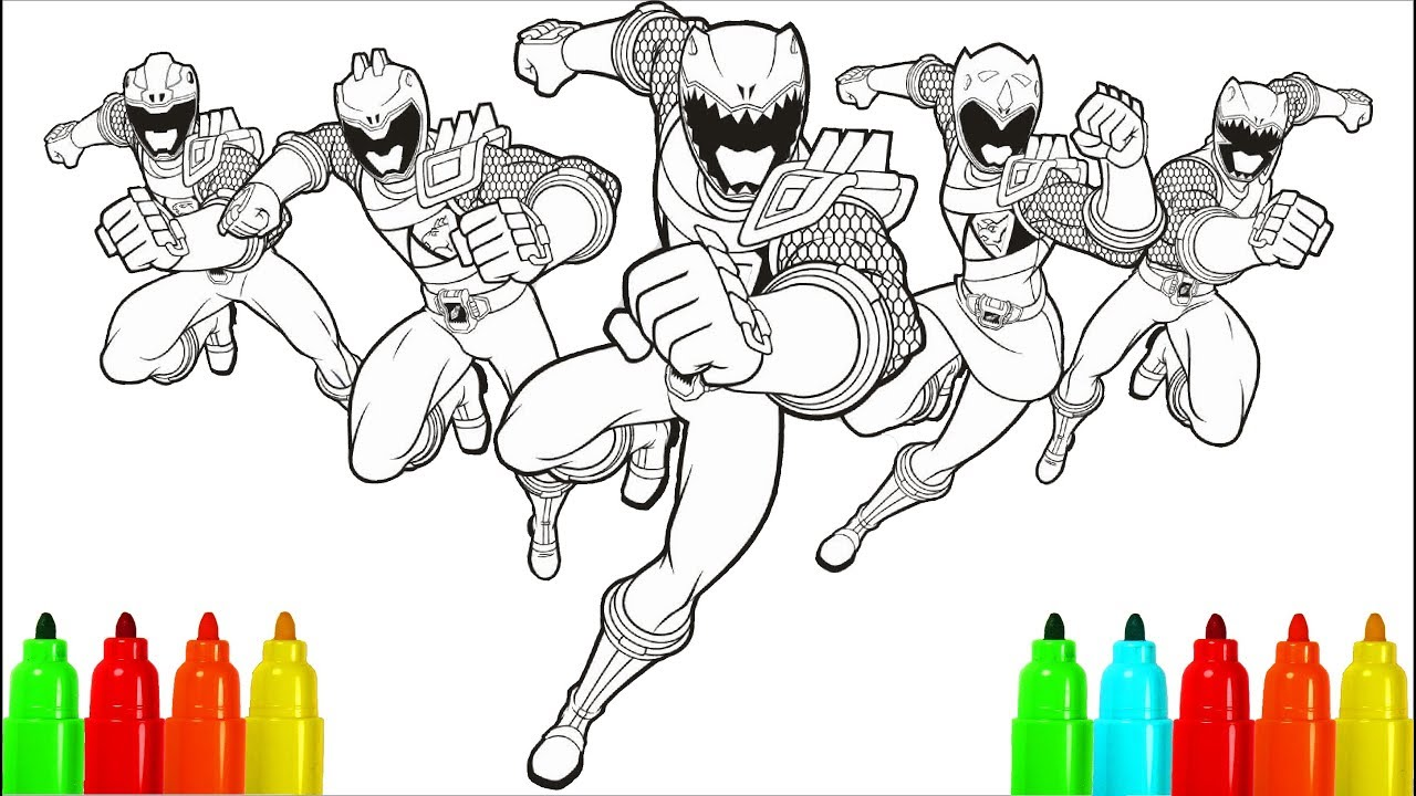 power rangers dino charge coloring pages colouring pages for kids