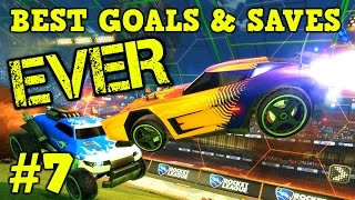 Rocket League Montage: BEST GOALS & SAVES EVER #7 - Freestyles, Air Dribbles & more [HD]