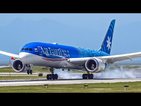 Splendid Windy Landings At Vancouver YVR With Live ATC!!