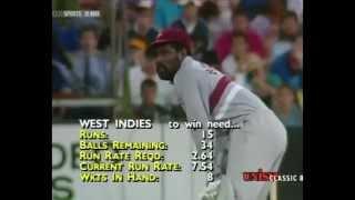viv richards brutal batting 60 40 west indies v australia 3rd final at scg 1988 89 wsc