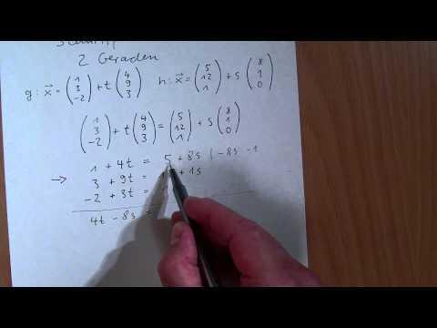 Lineare Funktionen: Schnittpunkt zwischen zwei Geraden bestimmen (Nr. 2) from YouTube · Duration:  4 minutes 56 seconds