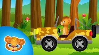 Samochód terenowy dla dzieci - zwierzęta w lesie
