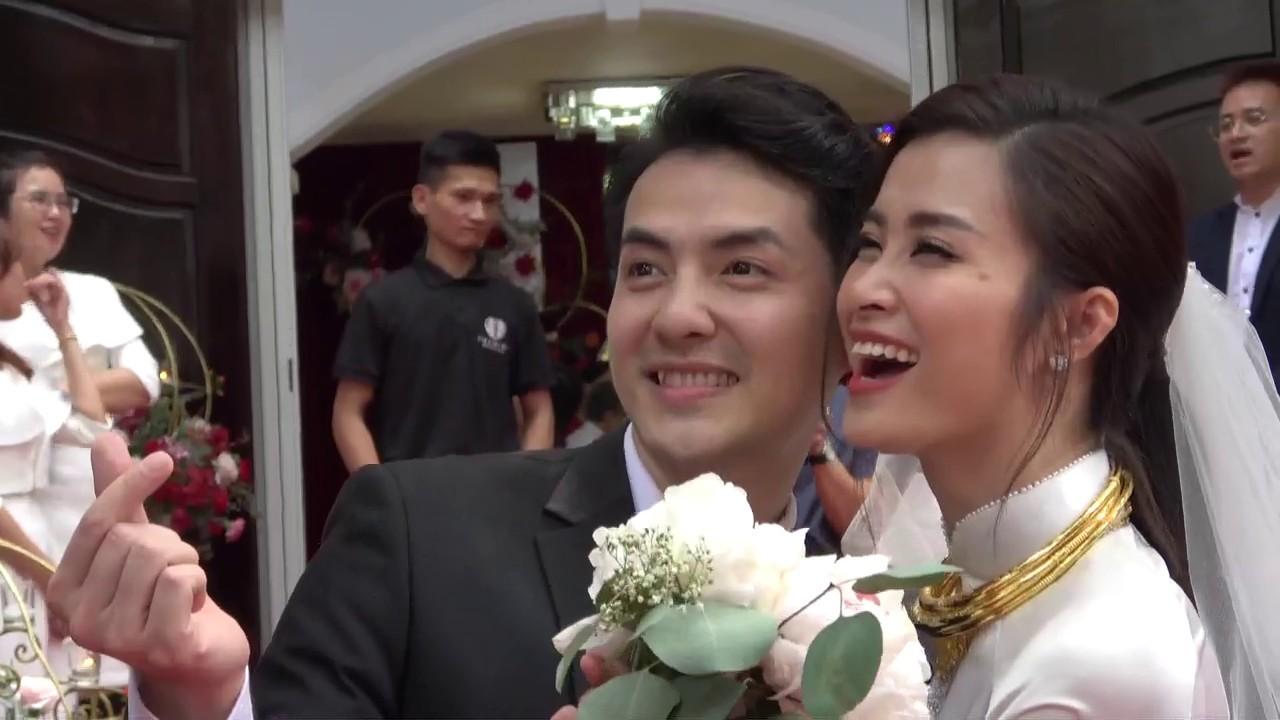 Đám cưới Đông Nhi - Ông Cao Thắng: Cô dâu - chú rể hôn nhau ngập tràn hạnh phúc sau lễ rước dâu