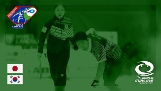 Japan v Korea - Quarter-final - World Mixed Doubles Curling Championship 2018
