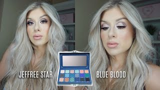 NEUTRAL EVERYDAY LOOK USING THE JEFFREE STAR BLUE BLOOD PALETTE?!